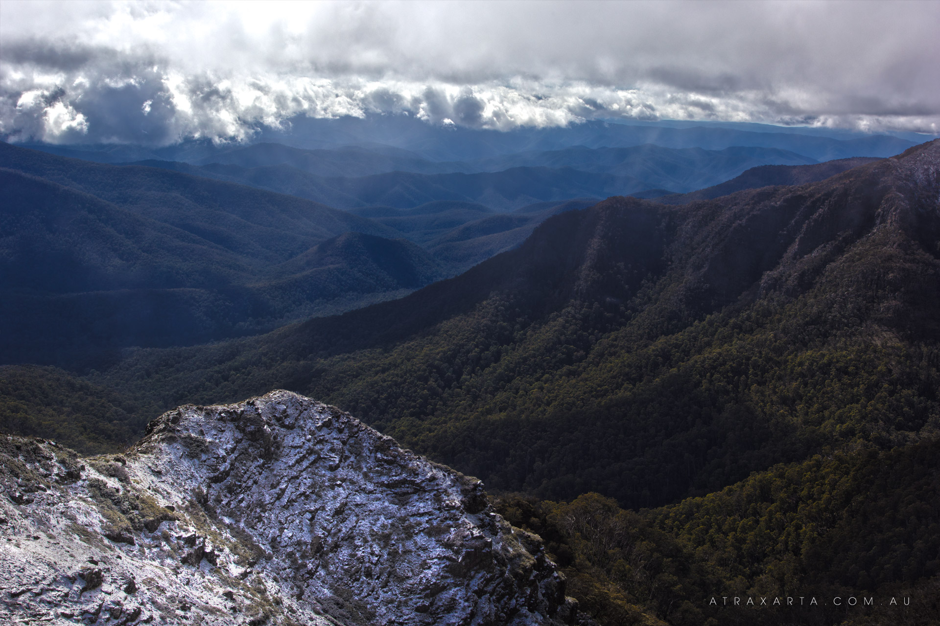 Snow on the Cross Cut Saw, Cross Cut Saw, Alpine National Park, Victoria